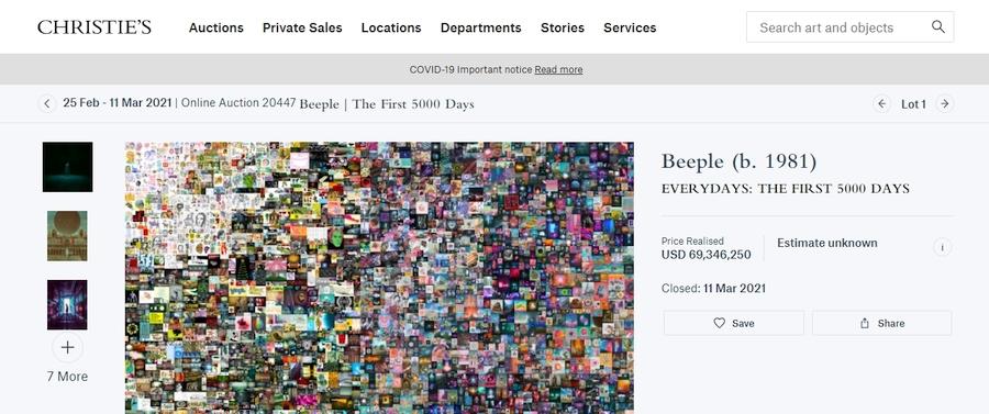 beeple crypto nft art auction christies